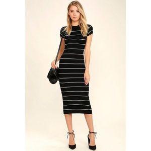 Lulus stripes midi dress